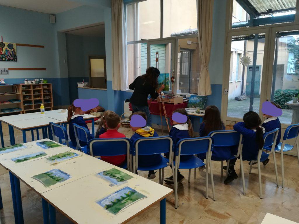 L'aula del corso ad indirizzo Montessori